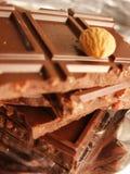 Barras del chocolate Fotografía de archivo