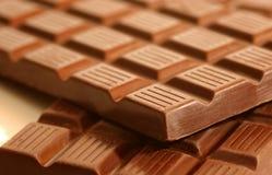 Barras del chocolate fornido fotos de archivo libres de regalías