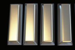 Barras del lingote 3D del platino ilustración del vector
