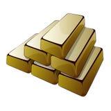 Barras del oro Foto de archivo libre de regalías