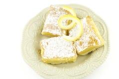 Barras del postre del limón Foto de archivo libre de regalías