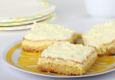 Barras do bolo do limão fotografia de stock