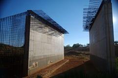 Barras do concreto e de ferro Fotos de Stock