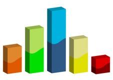 barras do gráfico 3D Imagens de Stock