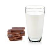 Barras do leite e de chocolate imagem de stock