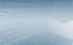Barras do mercado de valores de acção com dados Ilustração Royalty Free