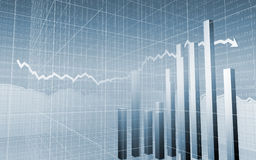 Barras do mercado de valores de acção na grade Imagens de Stock Royalty Free