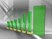 Barras do negócio, verdes Imagens de Stock Royalty Free