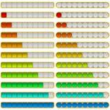 Barras do progresso, grupo Imagem de Stock