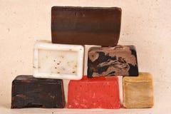 Barras do sabão handmade Fotografia de Stock Royalty Free