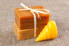 Barras do sabão handmade Fotografia de Stock