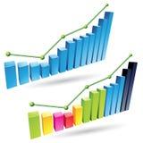 barras do Stats 3d Fotografia de Stock