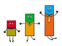 Barras dos desenhos animados Imagem de Stock