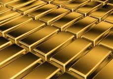 Barras douradas Foto de Stock