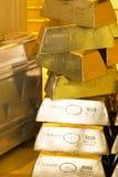 Barras douradas fotografia de stock