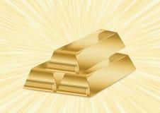 Barras douradas brilhantes Imagens de Stock Royalty Free