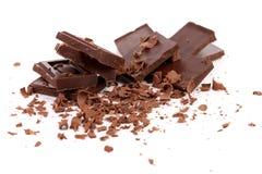 Barras e rapagem de chocolate imagem de stock royalty free