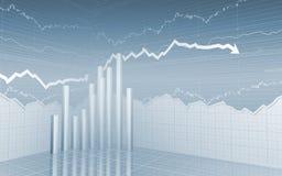 Barras e setas do mercado de valores de acção Imagem de Stock