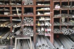 Barras e tubulações de metal fotografia de stock royalty free