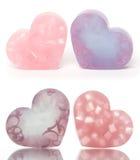 Barras en forma de corazón del jabón fotos de archivo libres de regalías