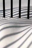 Barras en nieve Fotos de archivo libres de regalías