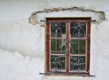 Barras hechas a mano en la ventana Imagen de archivo libre de regalías