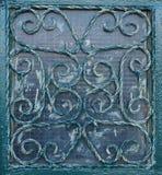 Barras hechas a mano en la ventana Fotografía de archivo libre de regalías