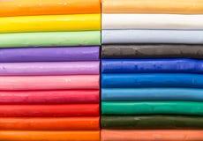 Barras macias coloridas do plasticine Fotografia de Stock Royalty Free
