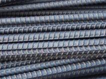 Barras o barras de acero del moho Fotos de archivo libres de regalías