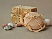 Barras orgânicas naturais do sabão Fotos de Stock