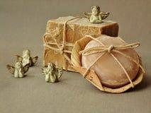 Barras orgânicas naturais do sabão Imagem de Stock Royalty Free