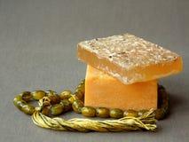 Barras orgânicas naturais do sabão Fotografia de Stock Royalty Free