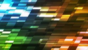 barras pequenas 05 da ol tecnologia inclinada horizontal do twinkling video estoque