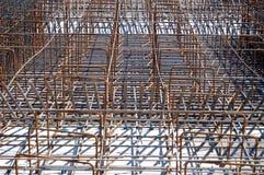 Barras reforzadas acero Imagen de archivo libre de regalías