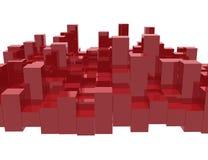 Barras rojas del equalizador ilustración del vector