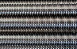 Barras roscadas del acero inoxidable fotografía de archivo libre de regalías