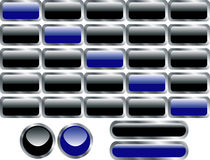 Barras, teclas e bandeira de navegação do Web Imagem de Stock Royalty Free