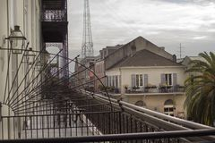 Barras y arquitectura de metal de New Orleans Imagen de archivo