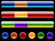 Barras y botones del sitio. stock de ilustración