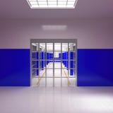 Barras y células de la prisión Fotografía de archivo libre de regalías