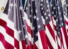 Barras y estrellas, banderas americanas los E.E.U.U. Imagenes de archivo