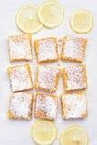 Barras y rebanadas del limón Foto de archivo