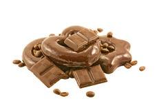 Barras y tortas de chocolate Imagenes de archivo