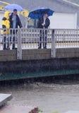 barreöversvämningsorkan irene vermont Royaltyfria Bilder