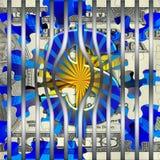 Barre behing della prigione del dollaro americano royalty illustrazione gratis