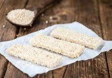 Barre casalinghe della quinoa Fotografia Stock