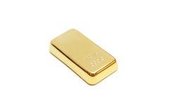Barre d'or à l'arrière-plan blanc Photo stock