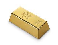 Barre d'or Photo libre de droits