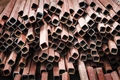 Barre d'acciaio come fondo Fotografie Stock
