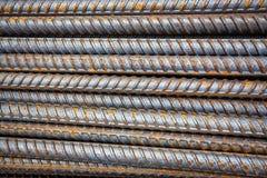 Barre d'acciaio di rinforzo Fotografie Stock